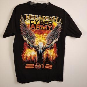 Rare Megadeth Cyber Army 2012 Shirt